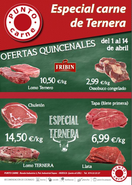 carne fribin punto oferta ternera